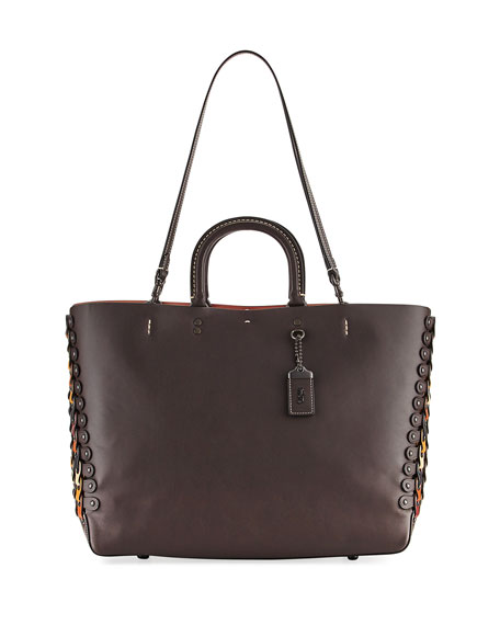 Coach 1941 Rogue Link Leather Tote Bag, Brown