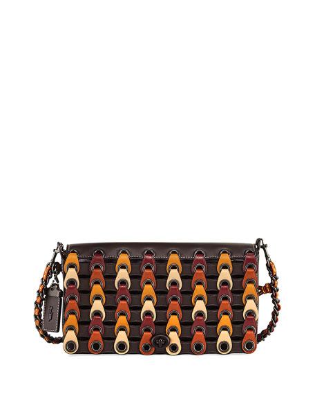 Coach 1941 Dinky Link Colorblock Crossbody Bag, Brown