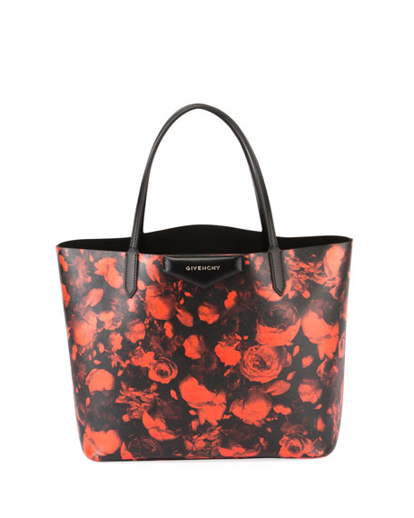 Givenchy Antigona Large Rose-Print Tote Bag