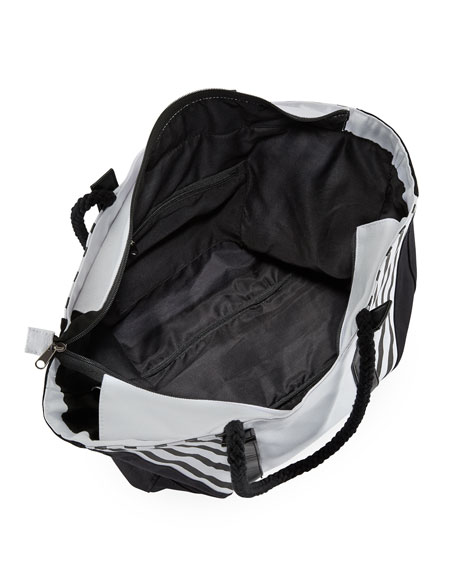 Contrast Paneled Beach Bag, Multi