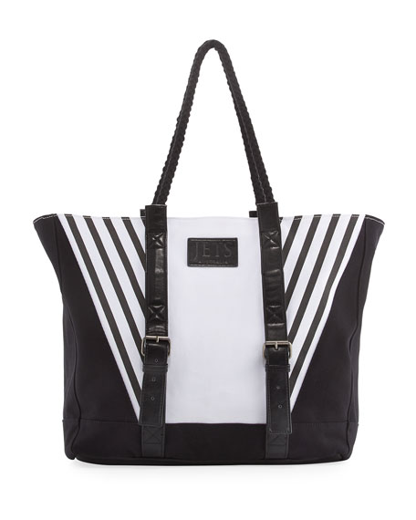Contrast Paneled Beach Bag, Multi