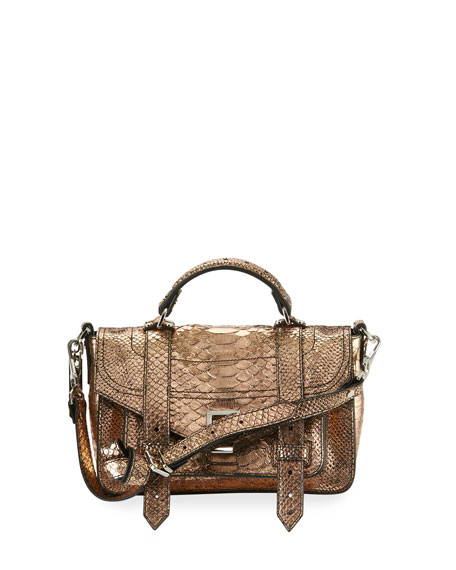 Proenza Schouler PS1+ Tiny Leather Satchel Bag, Rose