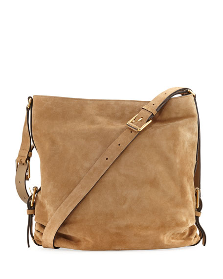 Michael Kors Naomi Large Suede Shoulder Bag