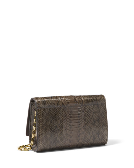 Yasmeen Small Snakeskin Clutch Bag