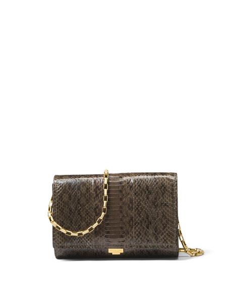Michael Kors Yasmeen Small Snakeskin Clutch Bag
