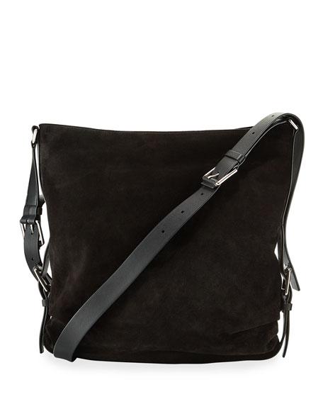 Naomi Large Mixed Leather Shoulder Bag