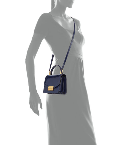 Juliette Mini Patent Top-Handle Bag