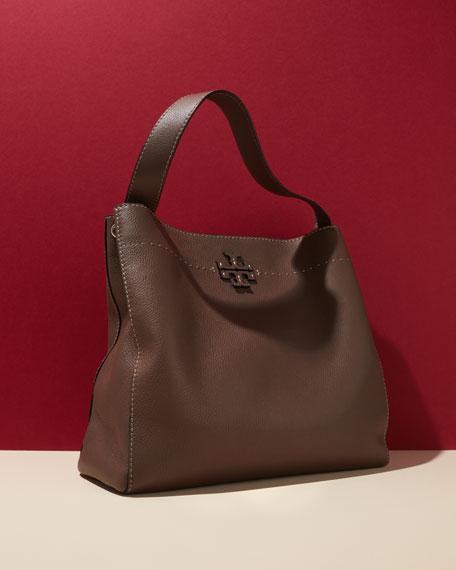 McGraw Pebbled Leather Hobo Bag