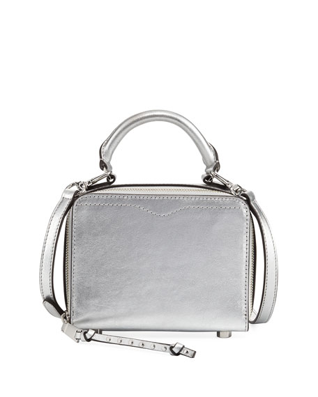 Rebecca Minkoff Metallic Leather Box Crossbody Bag