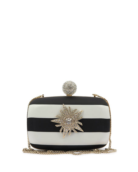 Boite De Nuit Star Striped Clutch Bag