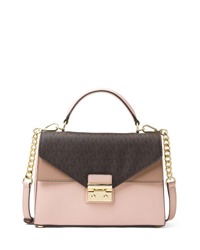 Sloan Medium Colorblock Satchel Bag