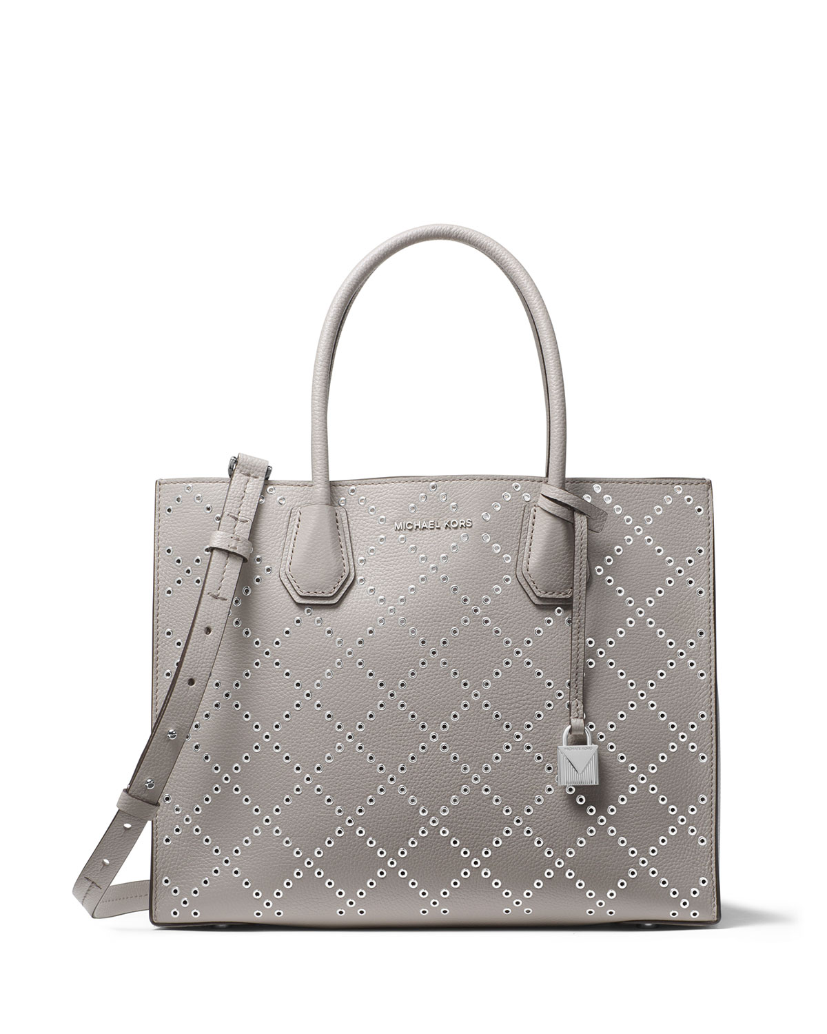 44e3faaf5465 MICHAEL Michael Kors Mercer Large Studded Convertible Tote Bag with  Rhodium-Tone Hardware