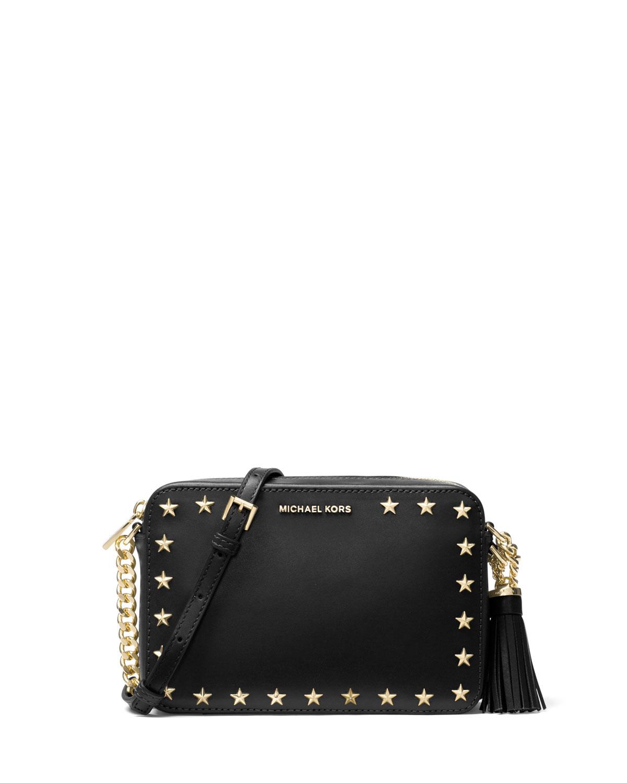 35b9dbdd4d43 MICHAEL Michael Kors Ginny Medium Studded Camera Bag | Neiman Marcus