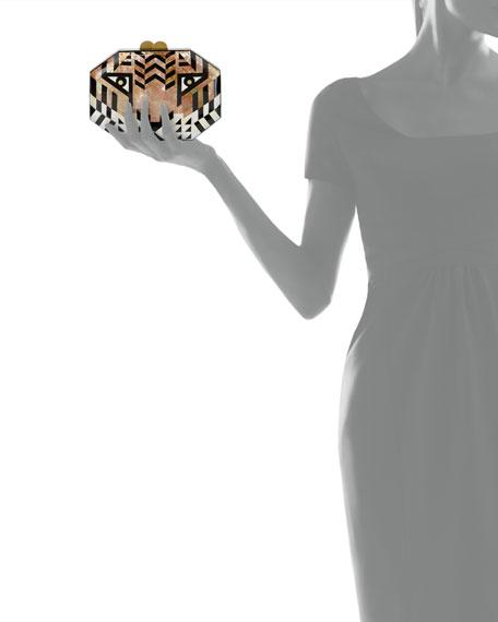 Animalia Tiger Octagon Minaudiere Bag