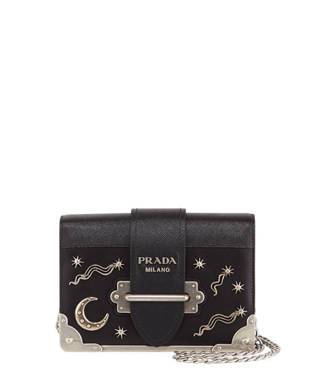 Prada Cahier Small Stars Moon Trunk Crossbody Bag