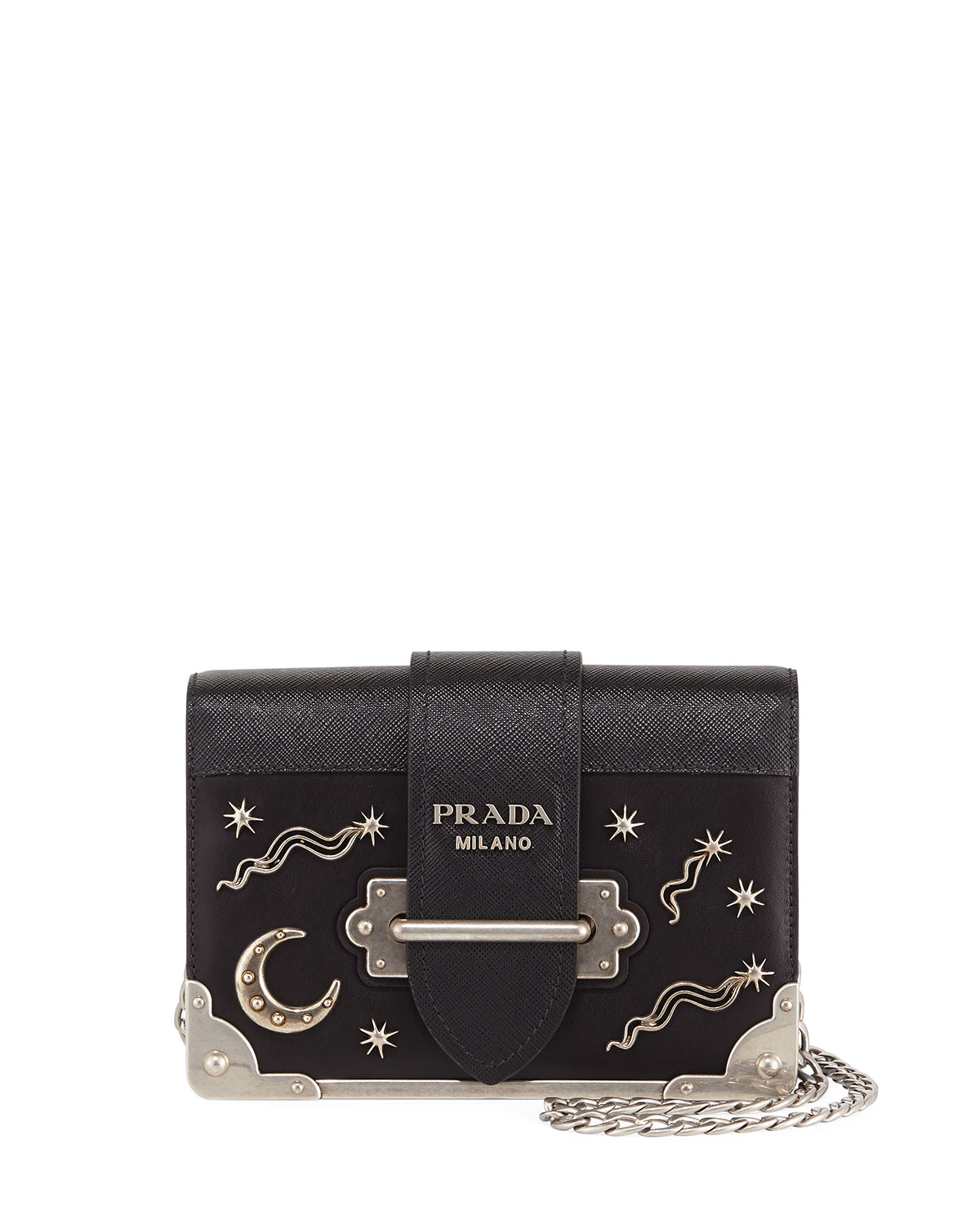 0e5791d795e10c Prada Cahier Small Stars Moon Trunk Shoulder Bag | Neiman Marcus