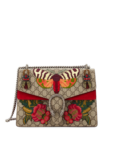 Dionysus Medium Embroidered GG Supreme Shoulder Bag