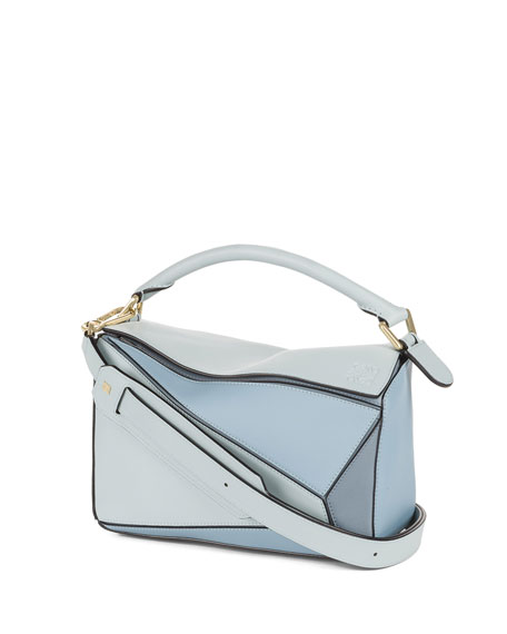 Loewe Small Puzzle Colorblock Leather Satchel Bag