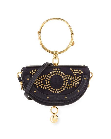 Chloe Nile Small Studded Bracelet Minaudiere Bag