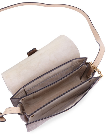 Faye Small Metallic Leather Shoulder Bag