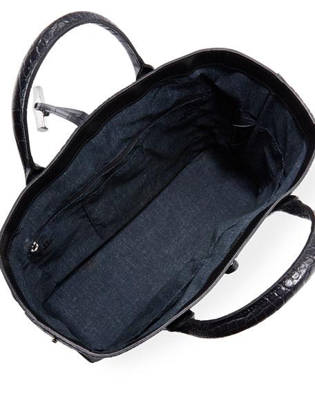 Roseau Croco Medium Tote Bag
