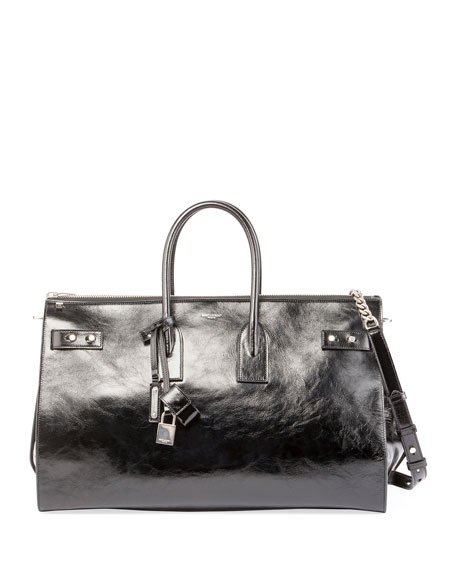 Saint Laurent Sac de Jour Crinkle Leather Travel