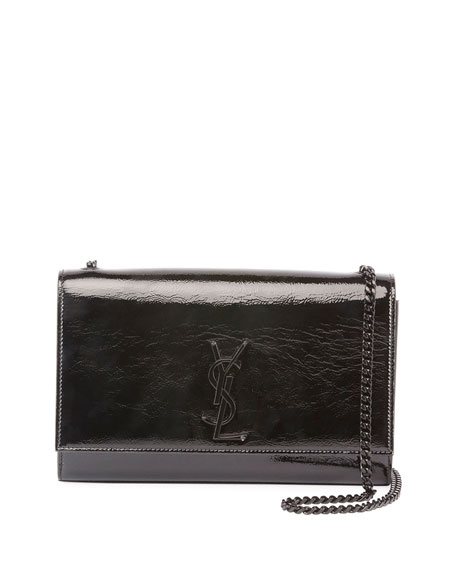 Saint Laurent Kate Medium Monogram Crinkle Patent Chain