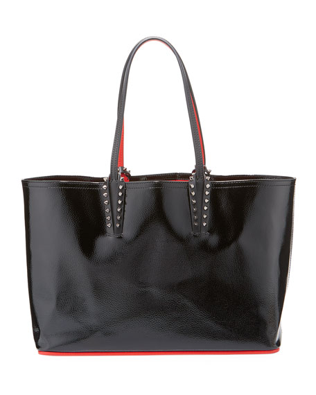 Christian Louboutin Cabata Small Spiked Patent Tote Bag