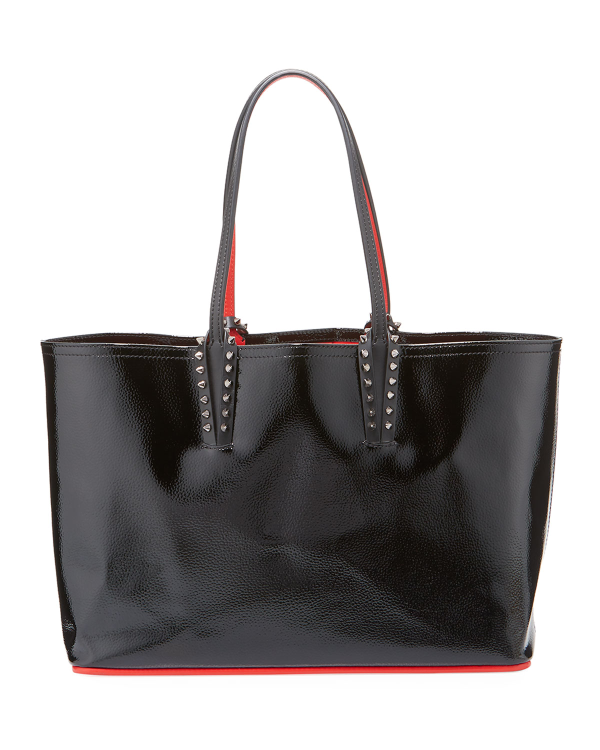 875abbd74655 Christian Louboutin Cabata Small Spiked Patent Tote Bag
