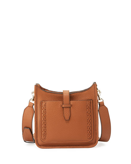Small Unlined Whipstitch Leather Feed Bag