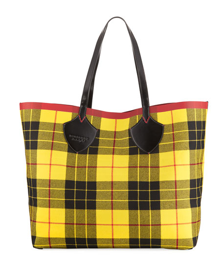 XL Reversible Check Tote Bag