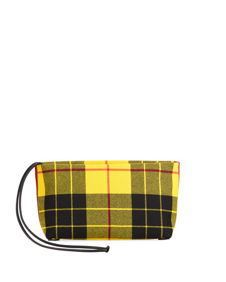 Burberry Check-Print Zip Clutch Bag