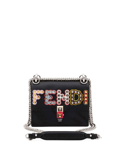 Fendi Kan I Small Calf Logo Shoulder Bag