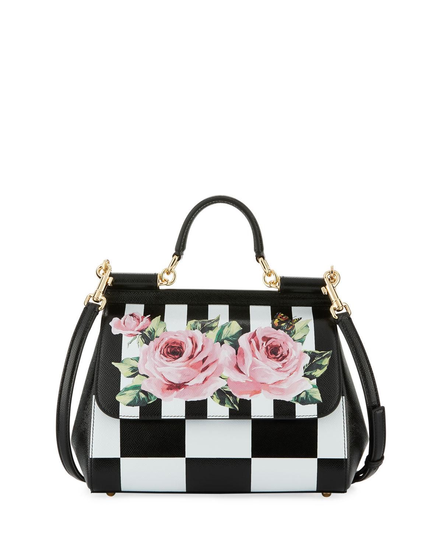f998402991c Dolce & Gabbana Sicily Medium Floral-Print Bag | Neiman Marcus