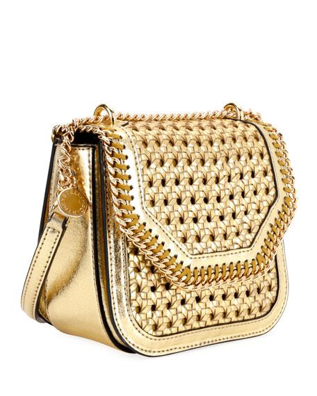 Falabella Mini Woven Shoulder Box Bag
