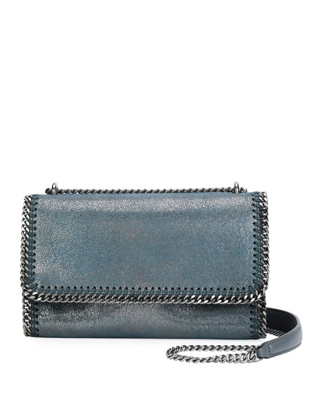 Stella McCartney Falabella Metallic Chain-Trim Shoulder Bag