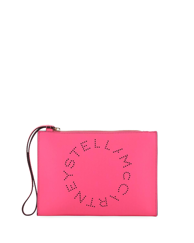 405ffee9d90d Stella McCartney Perforated Logo Clutch Bag
