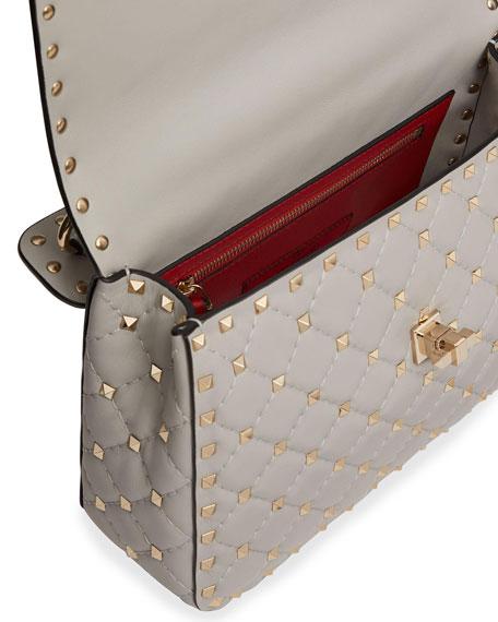 Rockstud Spike Medium Quilted Top-Handle Bag