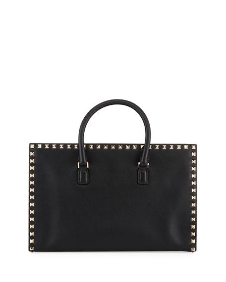 Valentino Garavani Rockstud Medium Leather Tote Bag