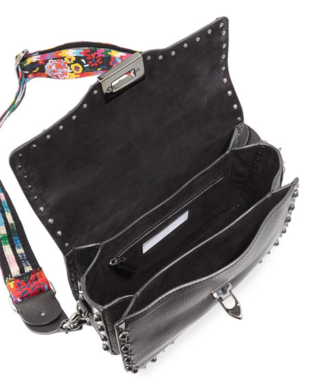 Guitar Rockstud Rolling Shoulder Bag