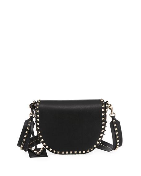 Valentino Garavani Rockstud Free Leather Saddle Bag