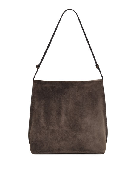 Wander Knotted Suede Shoulder Bag
