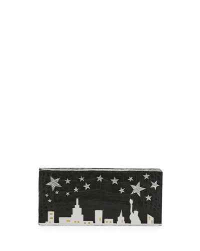 Star NYC Box Crocodile Clutch Bag