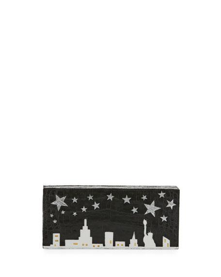 Star NYC Box Crocodile Clutch Bag
