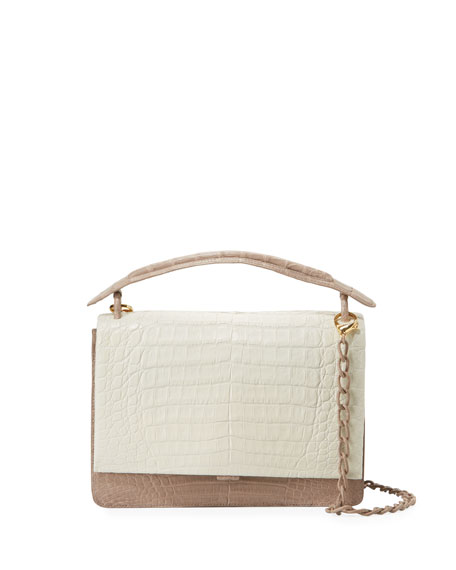 Nancy Gonzalez Large Divino Crocodile Satchel Bag
