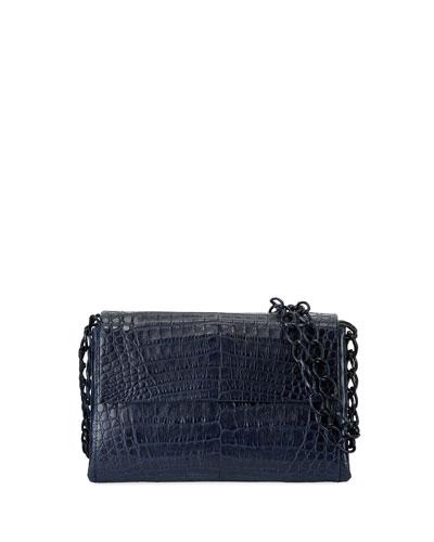 Crocodile Small Chain-Strap Shoulder Bag