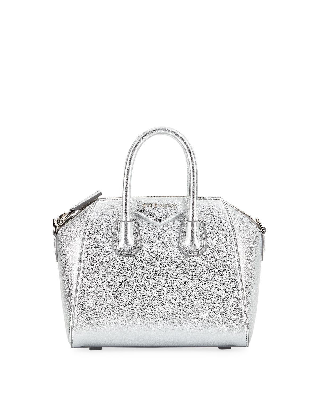 5bfcd2737d8 Givenchy Antigona Metallic Mini Satchel Bag | Neiman Marcus