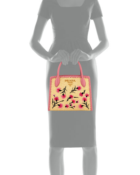 Paglia Ricamo Small Tote Bag