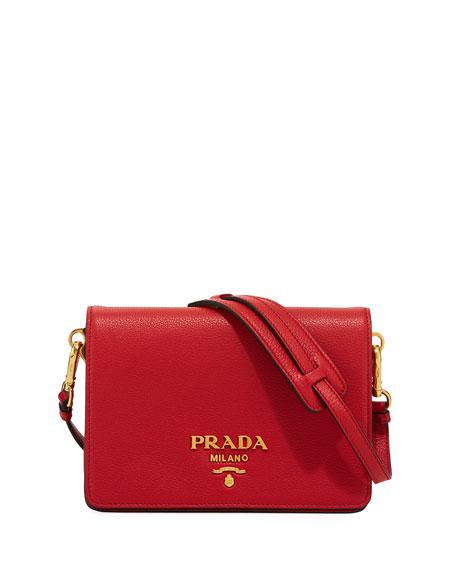 Prada Daino Small Leather Shoulder Bag