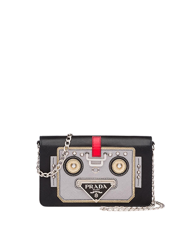 b4f41b19485 Prada Saffiano Robot Small Shoulder Bag